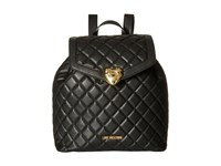 Love Moschino Quilted Knapsack Black Backpack Bags