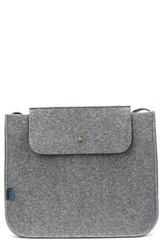 Men's Mad Rabbit Kicking Tiger 'Parker' Industrial Felt Shoulder Bag Grey Elephant Grey