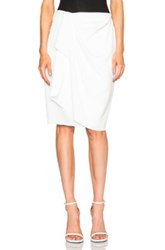 Baja East Satin Wrap Skirt In White