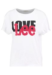 Lee Love Print Tshirt White