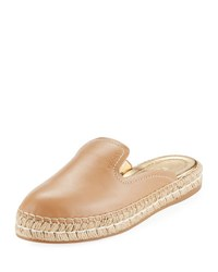 Prada Leather Espadrille Mule Slide Neutral
