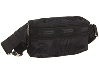 Le Sport Sac Double Zip Belt Bag Black Wallet