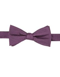 Vince Camuto Geometric Silk Bow Tie Berry