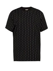 Wooyoungmi Logo Print Cotton T Shirt Black