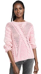 525 America Cable Pullover Acid Pink