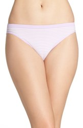 Nordstrom Women's Lingerie Seamless High Cut Briefs Purple Bloom Stripe
