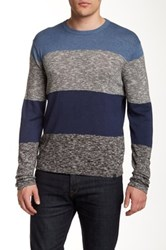 Dkny Colorblock Crew Neck Sweater Blue