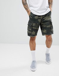 Hollister Camo Cargo Shorts In Green