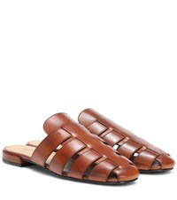 Church's Becky Leather Slippers Brown