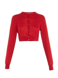 Dolce And Gabbana Button Front Silk Knit Cardigan