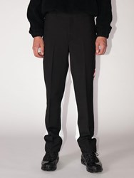 Burberry Logo Wool And Mohair Pants Black