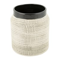 Amara Textured Ceramic Flower Pot Cream