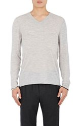 Atm Anthony Thomas Melillo Men's Cashmere Sweater Grey