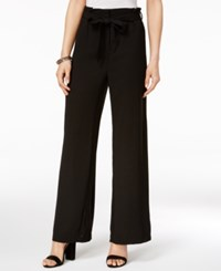 Xoxo Juniors' Belted Wide Leg Pants Black