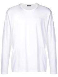 Acne Studios Nash L Face Long Sleeved T Shirt White
