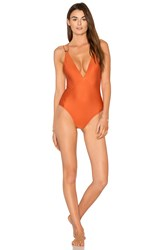 Vix Swimwear Solid Thai Ballet One Piece Burnt Orange