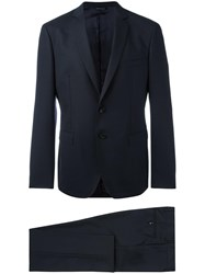Tonello Fitted Two Piece Suit Blue