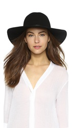 Hat Attack Wool Felt Round Crown Floppy Hat Black