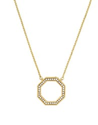 Louise Et Cie Octagon Goldtone Pendant Necklace