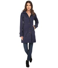 Hatley Classic Raincoat Navy Floral Tapestry Women's Coat