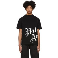 Palm Angels Black New Gothic T Shirt
