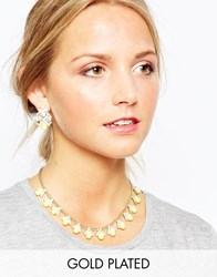 Johnny Loves Rosie Statement Necklace With Matching Earrings Yellow