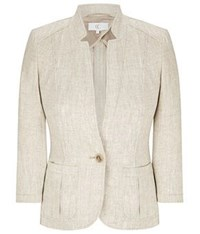 Cc Natural Linen Jacket Beige