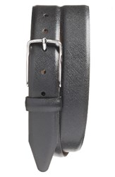 Nordstrom Men's Big And Tall Men's Shop Evans Saffiano Leather Belt Black
