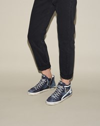 Golden Goose Slide Sneakers Denim Blue