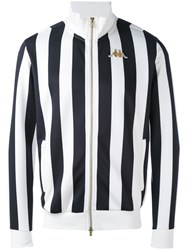 Kappa Stripe Zipped Jacket Men Polyester L White
