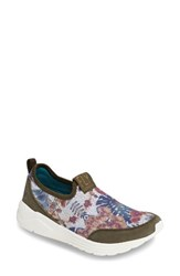 Fly London Women's Sat Sneaker Taupe Floral Fabric