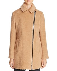Andrew Marc New York Slim Alpaca Wool Blend Coat Camel