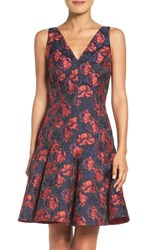 Maggy London Women's Shadow Floral Jacquard Dress