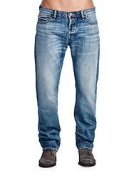 Cult Of Individuality Mccoy Straight Jeans List Blue