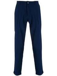 Hydrogen Cropped Tailored Trousers Blue