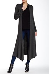 Riller And Fount Long Sleeve Extra Long Cardigan Gray