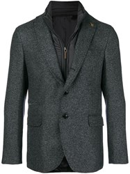 Paoloni Padded Lining Layered Blazer Blue