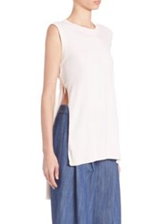 Adam By Adam Lippes Side Slit Cotton And Cashmere Tunic Cream