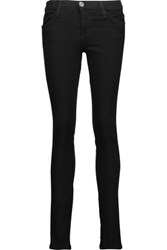 Current Elliott The Ankle Mid Rise Skinny Jeans Black