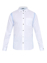 Marc By Marc Jacobs Contrast Panel Cotton Shirt