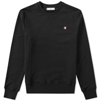 Ami Alexandre Mattiussi Small Tricolour Logo Crew Sweat Black