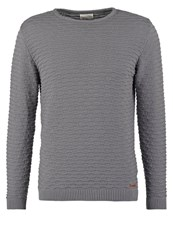 Knowledge Cotton Apparel Jumper Grey Melange