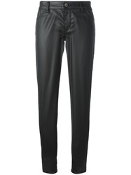 Just Cavalli Leather Effect Trousers Black