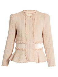 Rebecca Taylor Cropped Tweed Jacket Light Pink