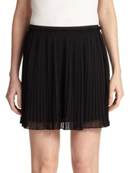 Rebecca Minkoff Hayes Pleated Mini Skirt Black