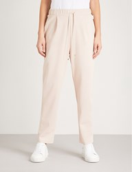 Max Mara Jean Tapered Jersey Jogging Bottoms 002 Pink