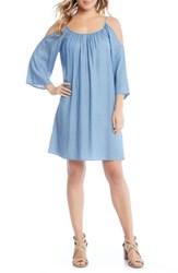 Karen Kane Cold Shoulder Chambray Dress