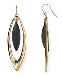 Alexis Bittar Lucite Neo Bohemian Marquis Orbital Drop Earrings Black
