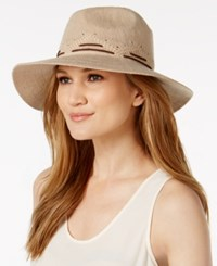Inc International Concepts Faux Suede Stitch Fedora Created For Macy's Camel