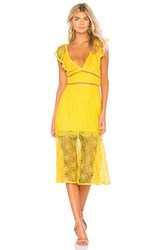 Saylor Leilani Dress Yellow